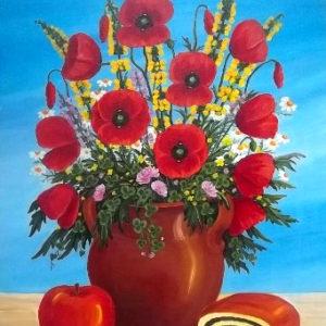 akciós festmények, gyümölcs csendélet festmények csendélet gyümölcsökkel pipacsok festményeken pipacsos festmények festmény virág, festmények virágokról, virág csendélet festmények, virág festmények, virágcsendélet, virágok festményeken, olajfestmények