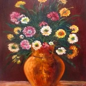 akciós festmények, egyszerű csendélet festmények festmények csendélet festmény virág, festmények virágokról, virág csendélet festmények, virág festmények, virágcsendélet, virágok festményeken, olajfestmények